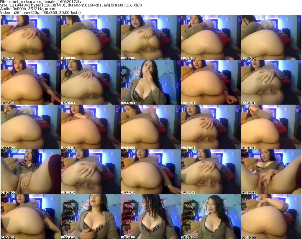 Download Or Stream File: cam4 rudeanalxx 16 June 2017