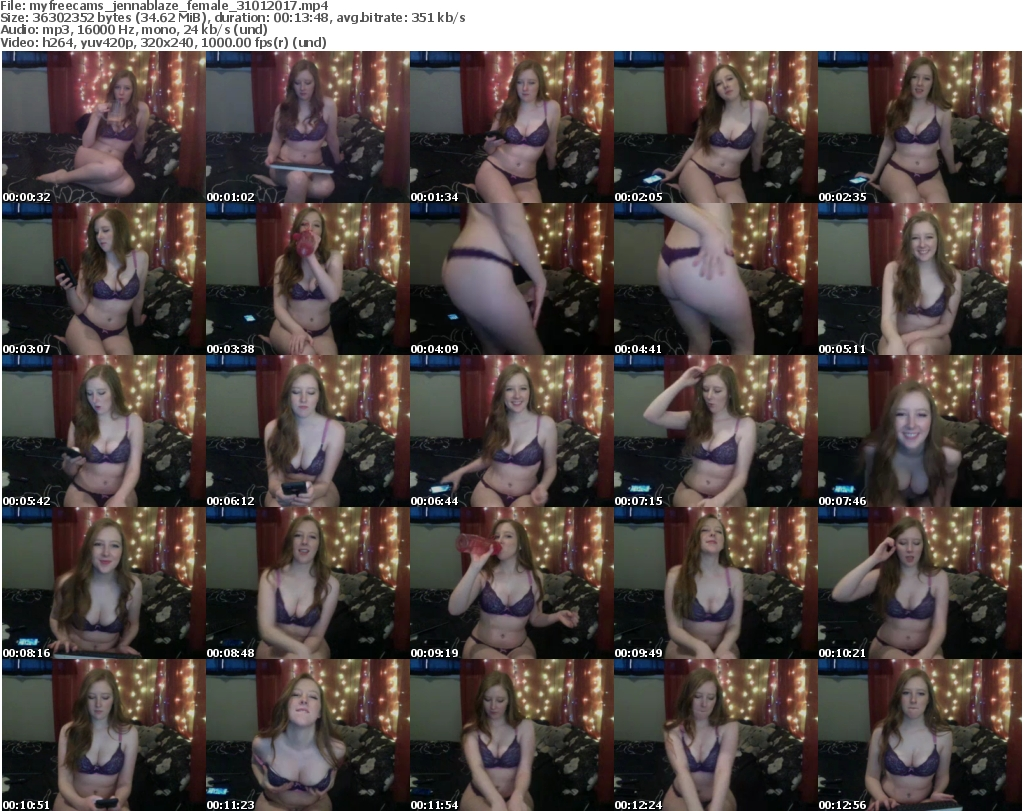Download Or Stream File: myfreecams jennablaze 31 January 2017